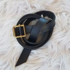 Madewell leather belt-black XS/S